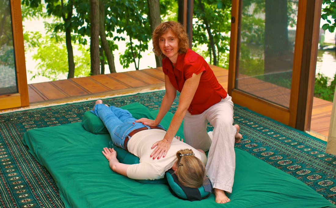 Barbra Esher and shiatsu client